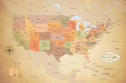 personalized USA pin map
