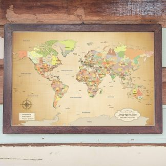military world map push pin map