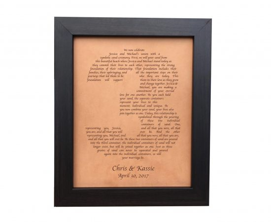 leather anniversary gift lyrics engraved in shape of 3