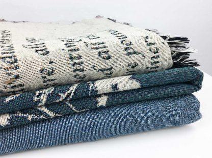 cotton woven throw blanket