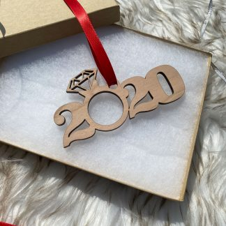 2020 engagement holiday ornament