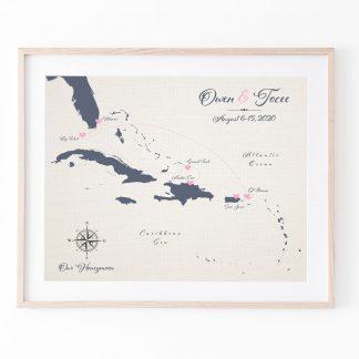 cotton anniversry honeymoon map