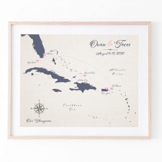 cotton anniversry honeymoon map