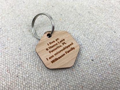 laser engraved wood dog tag