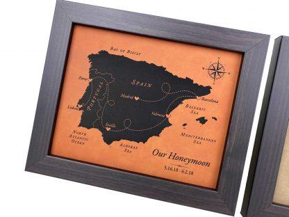 looks like leather map