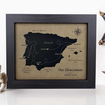 faux leather anniversary gift idea