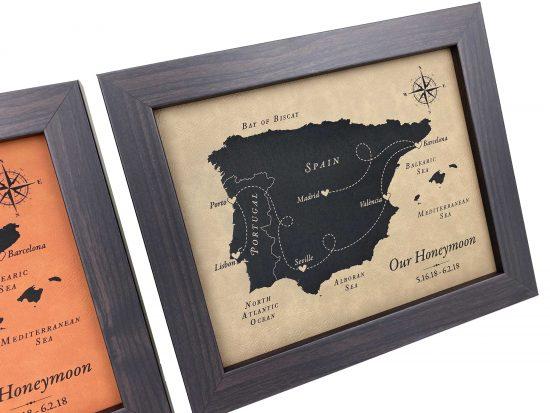 keepsake map laser engraved