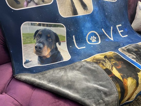 pet photo blanket personalized
