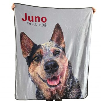 custom fleece pet photo blanket