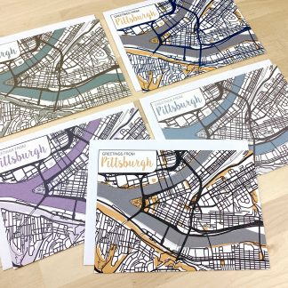 city of pittsburgh greeting card set