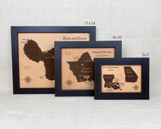 leather maps by JW Design Studio Gifts
