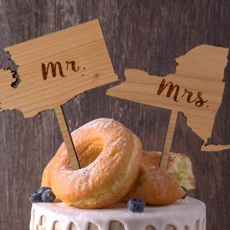 2 state wedding cake topper