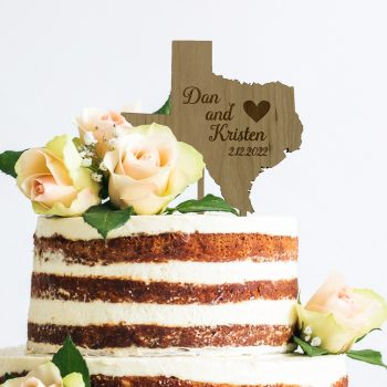 texas state cake topper