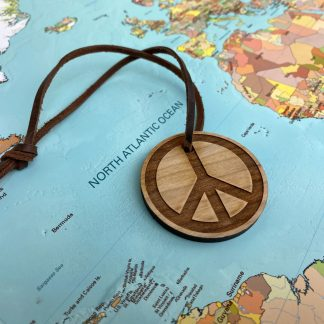 peace sign luggage tag
