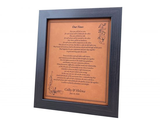 faux leatherette anniversary gift