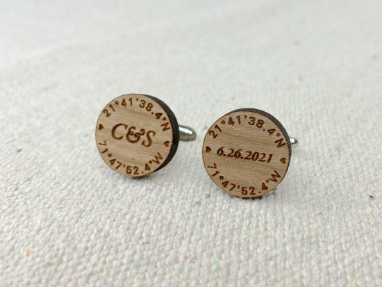 personalized cuff links rustic wedding