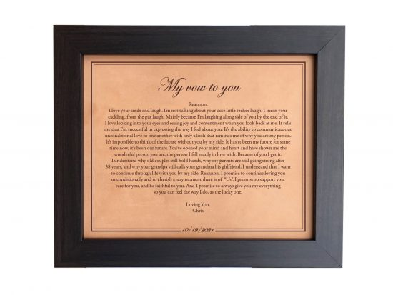 wedding day gift my vows to you
